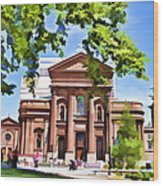 Philly Church View Wood Print