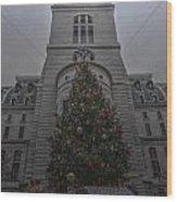 Philly City Christmas Wood Print