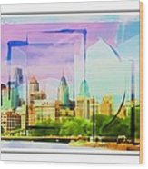 Philly Colours Wood Print