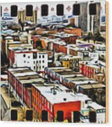 Philly Filmstrip Wood Print by Alice Gipson