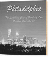 Philly Glow Wood Print