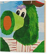 Philly Phanatic Wood Print by Trish Tritz