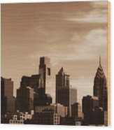 Philly Skyline 2013 Wood Print