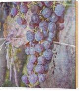 Phil's Grapes Wood Print