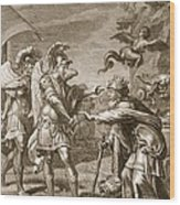 Phineus Is Delivered From The Harpies Wood Print