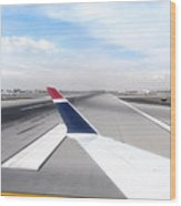 Phoenix Az Airport Wing Tip View Wood Print