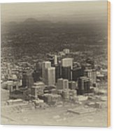 Phoenix Az Downtown 2014 Heirloom Wood Print