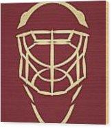 Phoenix Coyotes Goalie Mask Wood Print