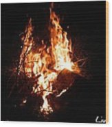 Phoenix Se Levant Des Flammes Wood Print