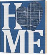 Phoenix Street Map Home Heart - Phoenix Arizona Road Map In A He Wood Print