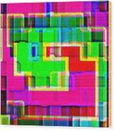 Phone Case Art Intricate Colorful Dynamic Abstract City Geometric Designs By Carole Spandau 131 Cbs  Wood Print