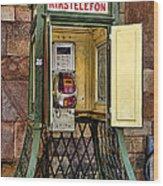Phone Home - Telephone Booth Wood Print