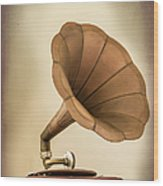 Phonograph Record Player Wood Print