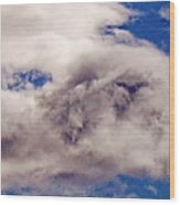 Phophet Coming Through The Clouds Wood Print