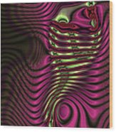 Phosphorescent Fish Fossil Wood Print