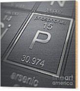 Phosphorus Chemical Element Wood Print