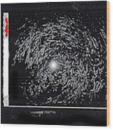 Photo Homage William Klein Street Lamp Night  Number 2 Aberdeen South Dakota Polaroid 1964-2009 Wood Print