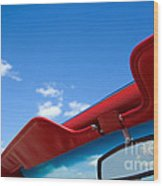 Photo Of Convertible Car And Blue Sky Wood Print