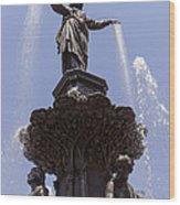 Photo Of Tyler Davidson Fountain In Cincinnati Ohio Wood Print
