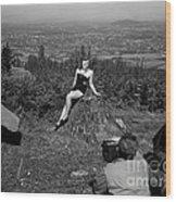 Photo Shoot 1947 Wood Print