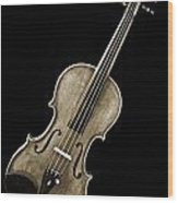 Photograph Of A Complete Viola Violin In Sepia 3368.01 Wood Print