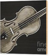 Photograph Of A Complete Viola Violin In Sepia 3370.01 Wood Print