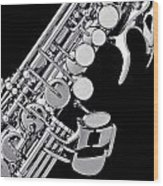 Photograph Of A Soprano Saxophone Sepia 3355.01 Wood Print