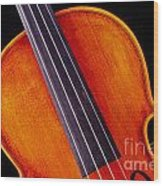 Photograph Of A Upper Body Viola Violin In Color 3369.02 Wood Print