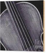 Photograph Of A Upper Body Viola Violin In Sepia 3369.01 Wood Print