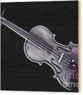 Photograph Of A Viola Violin Antique In Sepia 3376.01 Wood Print