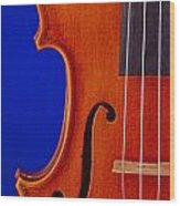 Photograph Of A Viola Violin Side In Color 3372.02 Wood Print