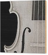 Photograph Of A Viola Violin Side In Sepia 3372.01 Wood Print