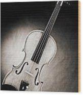 Photograph Of A Viola Violin Spotlight In Sepia 3375.01 Wood Print