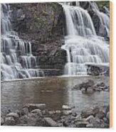 Photograph Of Lower Gooseberry Falls In Minnesota Wood Print