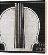 Photograph Or Picture Viola Violin Body In Sepia 3367.03 Wood Print