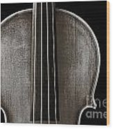 Photograph Or Picture Violin Viola Body In Sepia 3367.01 Wood Print