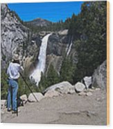 Photographer At Yosemite National Park Wood Print