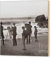 Photographer On The Beach California  Circa 1887 Wood Print