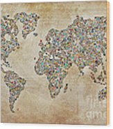 Photographer World Map Wood Print