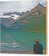 Photographers At Lake Louise In Banff National Park-ab Wood Print