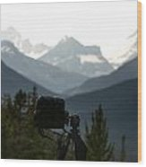 Photographing The Tonquin Valley Wood Print
