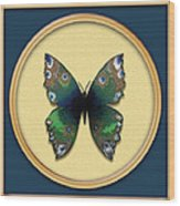 Phthalo Butterfly Wood Print