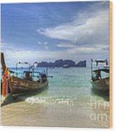 Phuket Koh Phi Phi Island Wood Print by Bob Christopher