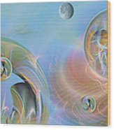 Phun With Quasars Wood Print