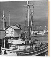 Phyllis Purse-seiner Monterey Wharf California  Circa 1940 Wood Print