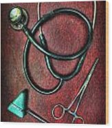 Physician's Tools  Wood Print