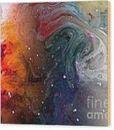 Pi Galaxy Wood Print by Petros Yiannakas