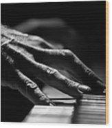 Piano Hands Wood Print