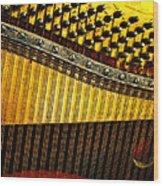 Piano Harp Wood Print