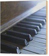 Piano Keys Wood Print by Jon Neidert